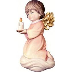 """Angelo in legno """"pitti"""" con candela"""
