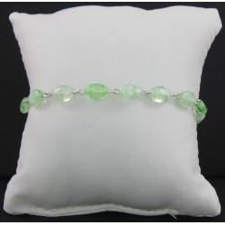 Braccialetto -Decina rosario con grani in vetro colorato