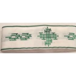 Bordo bianco con disegno verde