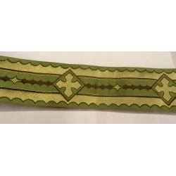 Bordo gallone verde e oro
