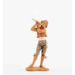 Pastore con flauto Fontanini cm 10
