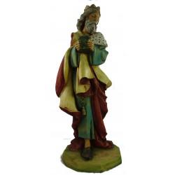 pastore presepe in  porcellana dipinta
