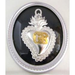 Ex voto - grazia ricevuta cuore votivo in argento
