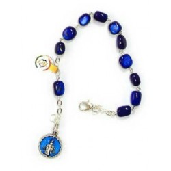 Braccialetto - decina rosario in pietra naturale