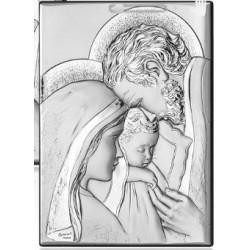 Sacra famiglia quadro in argento